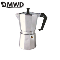 DMWD 1/2/3/6/9/12 tazas cafetera para cocina de hornillos italiano Moka aluminio Mocha Espresso olla del percolador filtro para tetera cafetera jarra|Cafeteras| |  -