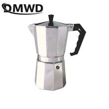 DMWD 1/2/3/6/9/12Cups Stovetop Coffee Maker Italian Moka Aluminum Mocha Espresso Percolator Pot Filter Tea pot Cafetiere Pitcher