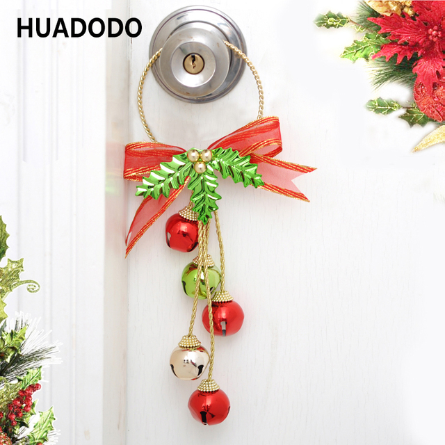 huadodo christmas bells pendants door decorations hanging ornaments for xmas tree christmas party home decorations