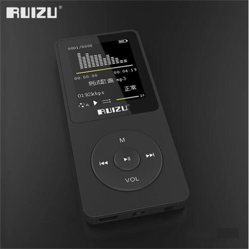 New Ultrathin MP3 Music Player 4GB Storage 1.8 Inch Screen Can Play 80hours Original RUIZU X02 with FM, E-Book, Voice Recorder ruizu x09 portable mp3 music player 4gb for running