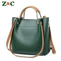 Newest Women Handbag 2pcs Composite Bag Women Solid Leather Shoulder Bag Women S Casual Tote Bag