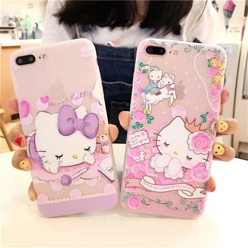 8f1c28c9fed696 Iphone 8 3D Cartoon Phone Iphone 6 6S Plus Case Hello Kitty Cute TPU Soft  Silicone ...