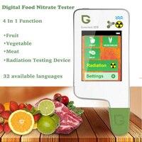 4 в 1 Цифровой пищевой нитрат тестер Высокая точность портативный пищевой безопасности тестер фрукты овощи мясо радиационный детектор мони