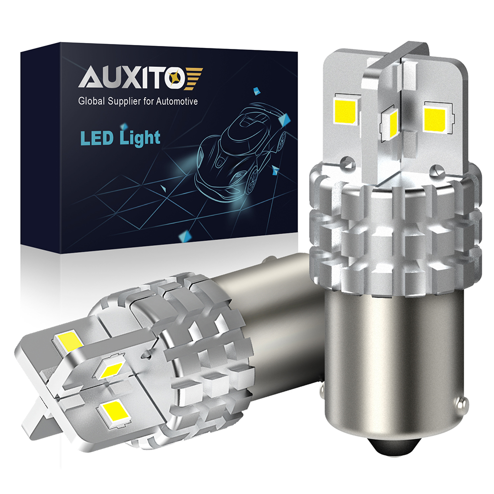 2x 1156 BA15S <font><b>LED</b></font> Backup Reverse Light Bulb <font><b>P21W</b></font> <font><b>NO</b></font> <font><b>Error</b></font> Bulb For Mitsubishi Outlander Pajero Sport Lancer 10 9 3 4 ASX i200 image