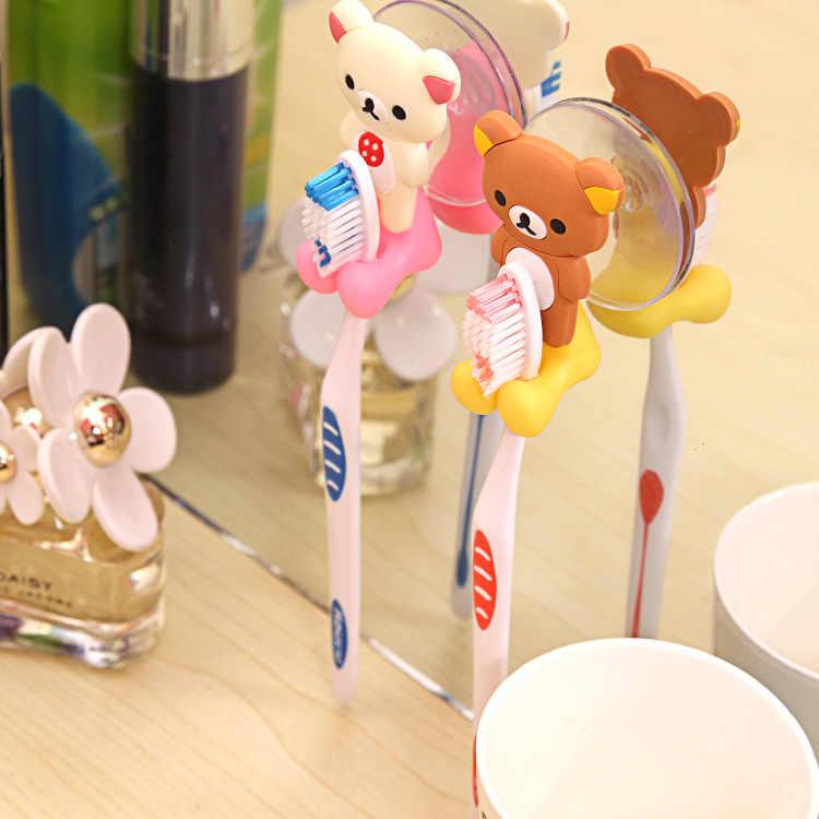 1 pc 2019 nowy przyjazd cute Cartoon sucker uchwyt na szczoteczki do zębów ssania haki łazienka zestaw akcesoria ekologiczne