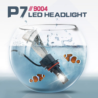 1 Pair P7 9004 Led Car Headlight Bulbs High Low Beam Hi Lo 60w 9600lm 6000K