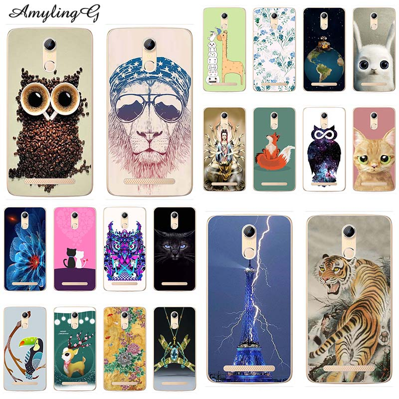 Fashion Soft silicone Phone Cases For HomTom HT17 HT 17 Pro 5.5 Soft TPU Cover Coque Print painting Flower style Fundas Para Dog(China)