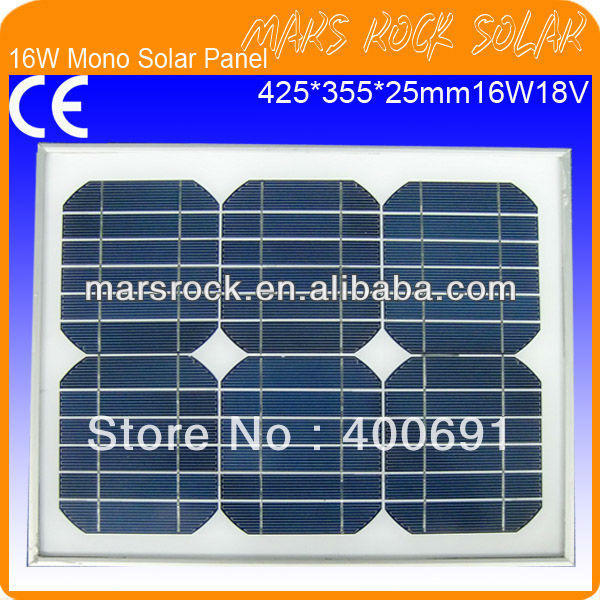16W 18V Monocrystalline Silion Solar Photovoltaic Panel Module16W 18V Monocrystalline Silion Solar Photovoltaic Panel Module