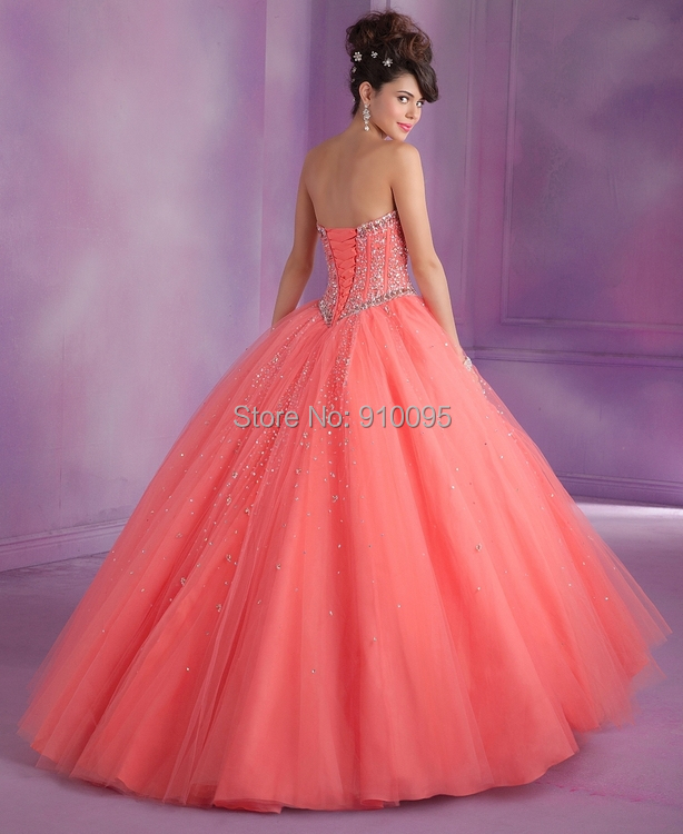 Sweet 16 Ball Gowns Coral Masquerade Ball Dresses Light Blue ...