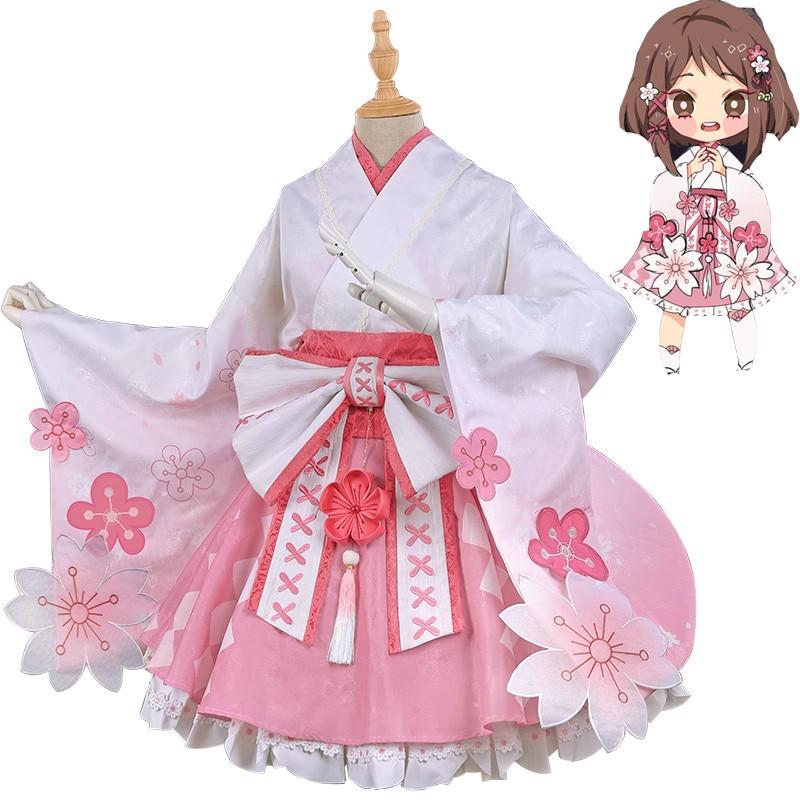 My Hero Academia Uraraka Ochako Cosplay Costumes Kimono ...