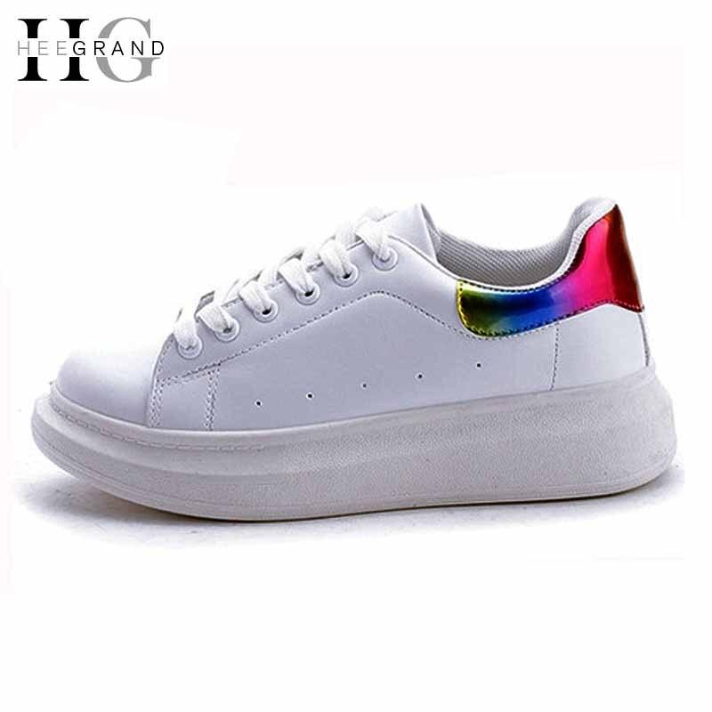 Aliexpress.com Comprar Mujeres Zapatos casuales 2016 Zapatos con cordones blancos Zapatos de lona planos alpargatas de impresión pisos Zapatillas