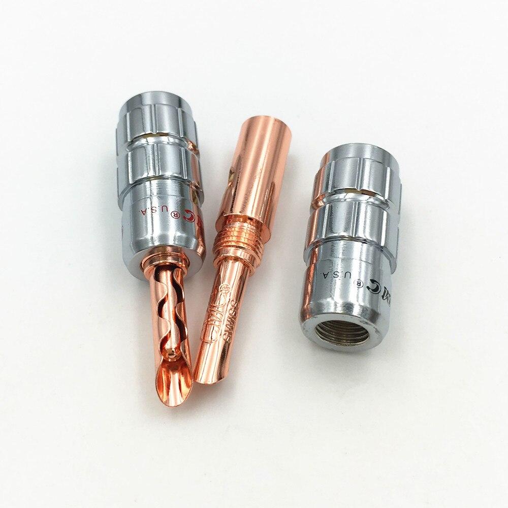 Image 2 - 8ピース真鍮cmcスピーカーケーブルジャック4ミリメートルバナナbfa男性プラグスクリューwire noはんだコネクタローズゴールドメッキsolder wire connectorconnector 4mmconnector male -