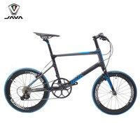 JAVA Freccia углерода Minivelo велосипед 20 1 1/8 451 11 скорость с Aero прямое Крепление V тормоз городской мини велосипедные
