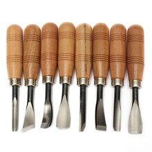 8 قطعة/المجموعة woodpecker الجاف ناحية الخشب إزميل نحت أدوات رقاقة بالتفصيل مجموعة السكاكين أداة