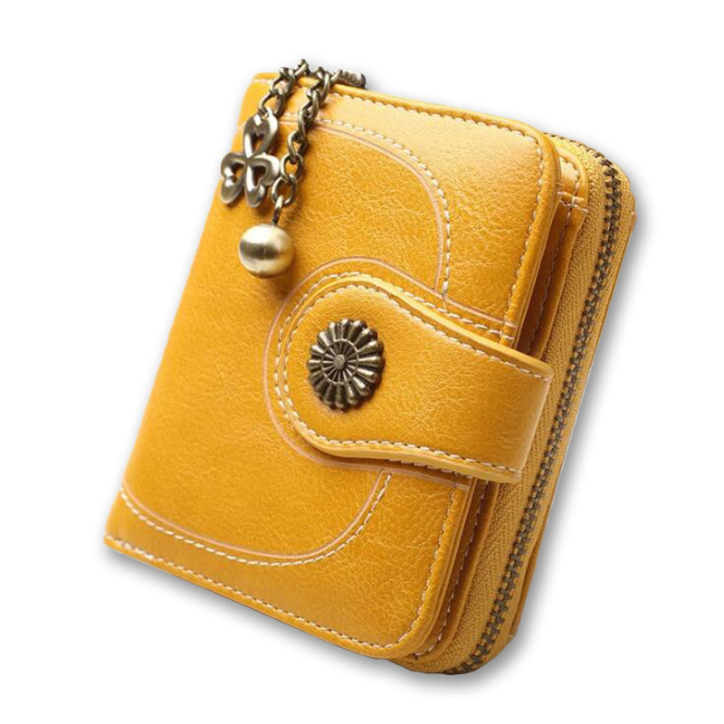 Baellerry Women Wallet 2018 New Yellow Red Black Wallets Female Zip Hasp Coin Purse Woman Retro National Vallet Girl Card Holder