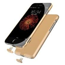 Ультра Тонкий Power Bank Крышки Случая Питания для iphone 7 Аккумуляторная резервное копирование Внешнее Зарядное Устройство Чехол Для iPhone 6 6 S 7 7 плюс