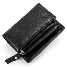 New Arrivals Genuine Leather Short Style Women Wallet Hot Brand Multi-function Female Zipper Purses High Quality Hasp Wallets