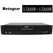 Betagear AMP1500 Pro Stage Amp power amplifier 1500W+1500W amplifier power 2300W*2 @4ohm subwoofer amplifier power switch audio