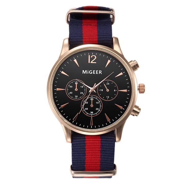 Splendid Dropship Migeer Marke Luxus Mode Leinenband Männer Quarzuhr Casual Männer Sport Business Handgelenk Männer Uhren Uhren