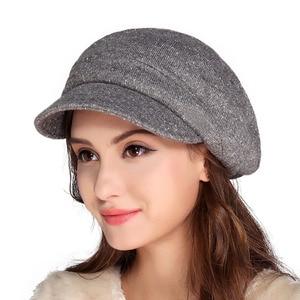 Image 2 - FS Women French Wool Felt Beret Hat Flat Cap Autumn Winter Female Vintage Caps Fedora Chapeu Feminino Boina Mujer Invierno