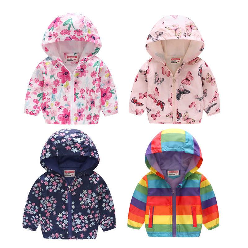 8b0d657e7 2019 New Children Spring Jacket Girls Fashion Cute Out Wear Clothes Kids  Autumn Thin Hooded Zipper