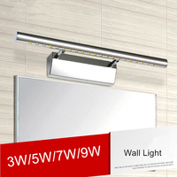Modern 7w LED Bathroom Mirror Light Lamps Rushed NEW Industrial Lighting For Indoor Spotlight Stainless Steel