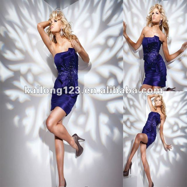 2bd2ffdee75 Charming Strapless Short Sheath Purple Pleated Beaded Bow Taffeta Cocktail  Dress