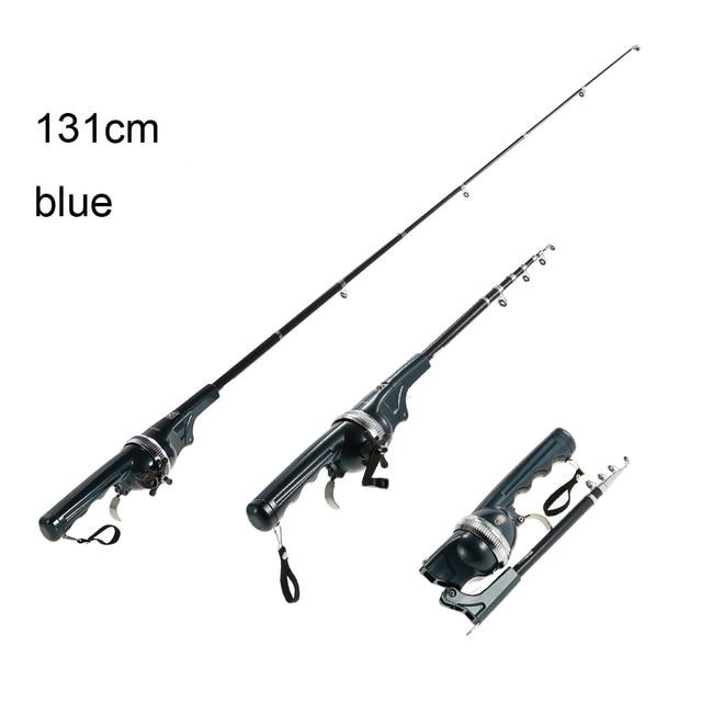 Reel Lure Fishing Spinning Pole Combo Fiberglass Fishing Rod Long Casting Fiberglass Carbon Line 133/158cm Folding Telescopic