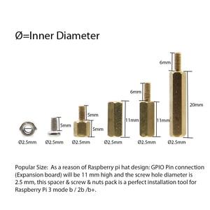 Image 5 - Raspberry Pi 4 Модель B/3B +/3B инструмент для установки 120 шт. серии M2, 5 стойка + гайки + Винты Набор Аксессуаров