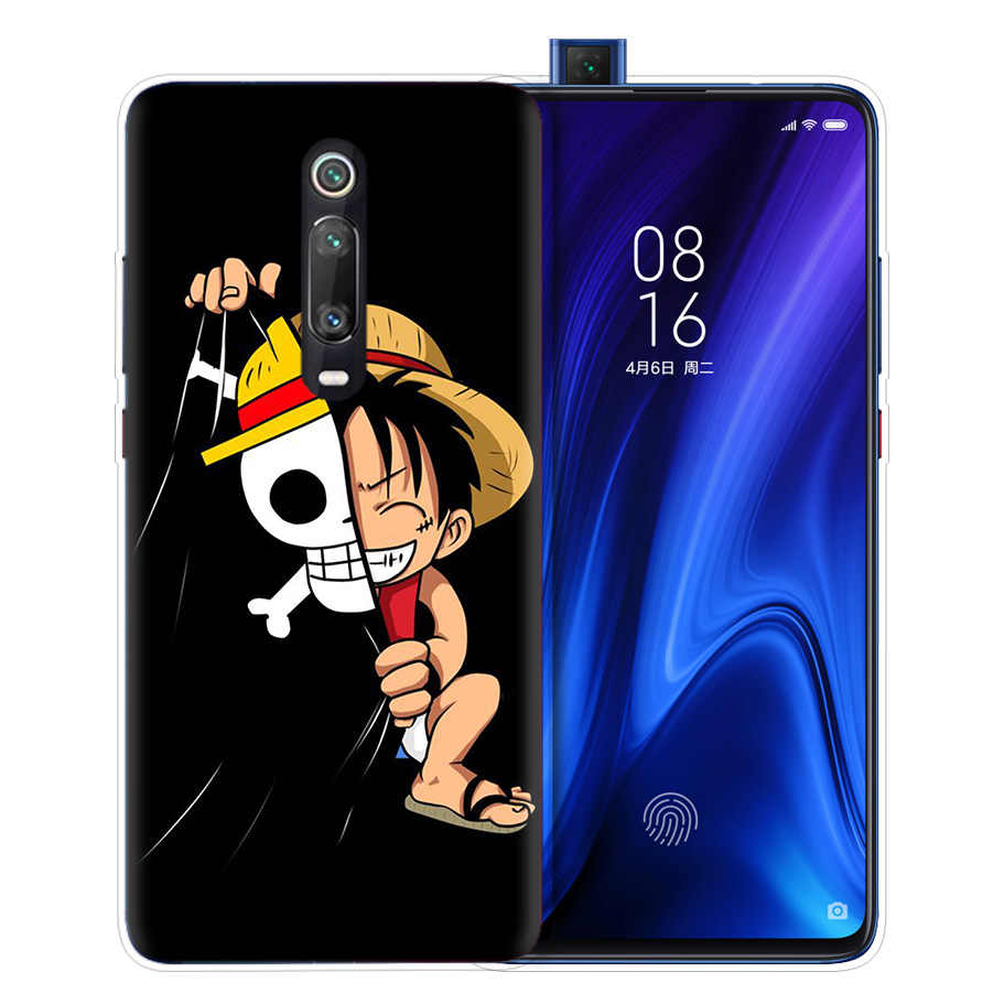 One Piece Free D Luffy Case for Xiaomi Redmi Note 7 7S K20 Y3 GO S2 6 6A 7A 5 Pro MI Play A1 A2 8 Lite Poco F1 TPU Phone Bags