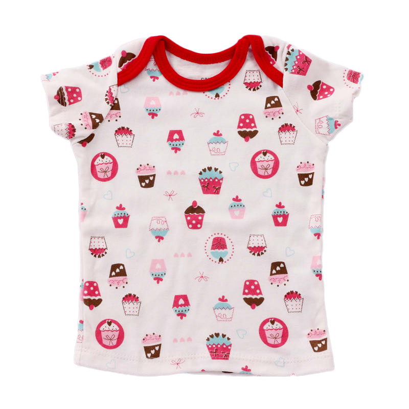 Summer Baby Girl T Shirts Cartoon Dot Tiny Cottons Baby Girl Tops 2018 T Shirt For Kids Outwear Todder Girls Summer Clothing