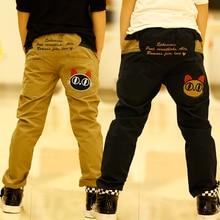 2017 boys pants casual print trousers spring and autumn kids pants 100% cotton trousers children boy pants,