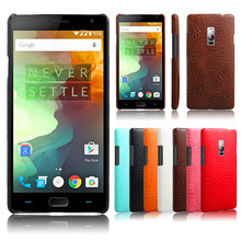 Oneplus 2 One Plus2 Case Quality PC Crocodile Grain Back Cover Hard for Plus Oneplus2 A2000 A2003 Protector