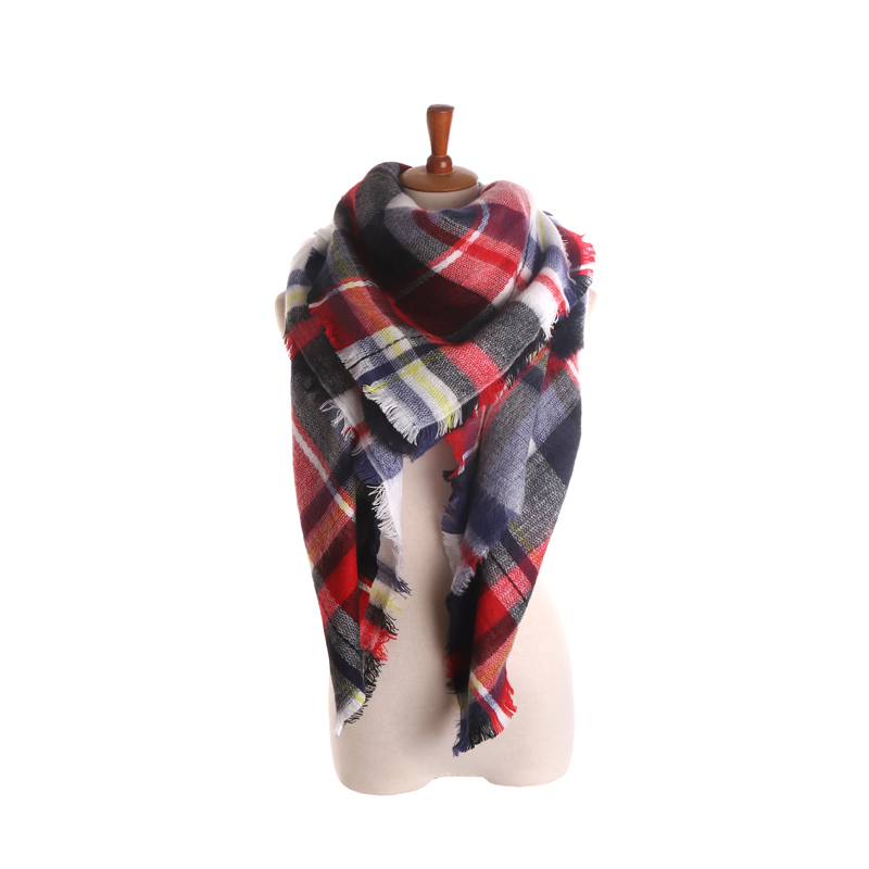 Winter Autumn font b Tartan b font Scarf Desigual Plaid Scarf New Designer Warm Soft Thicken