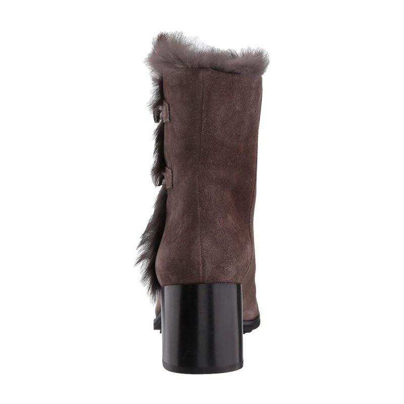 Bottes Talons Winterthick Long Neige 2018 Fsj01 Air 4 Chaud Chaussures 16 En Haute Peluche mollet Fourrure De Brun Taille Plein Mi Fsj Carrés Femme Mode FxZXvv