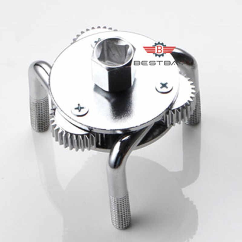 Herramienta de reparación de coches de aleación de 69-130mm herramienta de reparación de filtro de aceite de dos vías ajustable con 3 herramientas de removedor de mandíbula para coches camiones