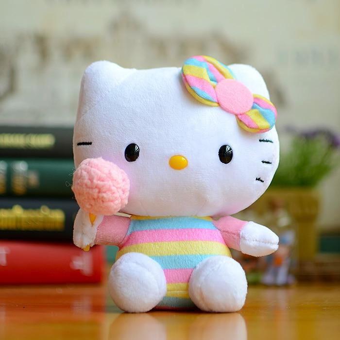Ty Rabbit Rainbow Bunny Ears <font><b>Hello</b></font> <font><b>Kitty</b></font> Kids <font><b>Plush</b></font> <font><b>Toys</b></font> Kawaii <font><b>Doll</b></font> <font><b>Lovely</b></font> Cat Cute Cartoon Stuffed Animals Christmas Gifts