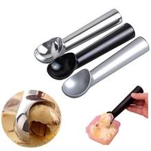 Hoomall Stainless Steel Ice Cream Spoon Portable Aluminum Alloy Non-stick Anti-feeze Ice Cream Baller Scoop Home Kitchen Tools