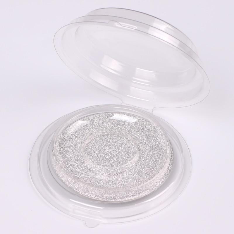 50/100 шт одноразовые пустые прозрачные круглые накладные ресницы для хранения, DIY элегантные поддельные ресницы блистерная упаковка, инструмент для макияжа глаз - Цвет: Silver card