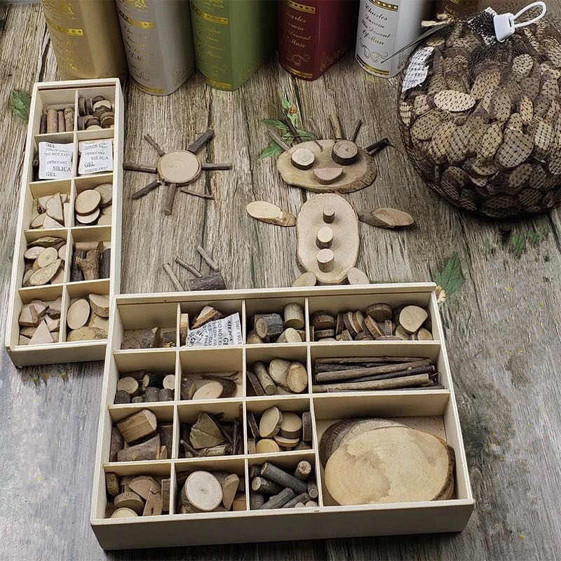 30-50 шт Детские DIY игрушки природа дерево искусство и ремесло ручной работы создать деревянные образовательные игрушка оригинальность дерево для детей подарок