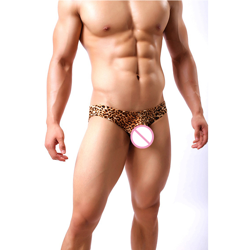 New Wild Style Men's Boxers Leopard Printing U Convex Underwear Sexy Male Panties Boxer Shorts Underwear Underpants
