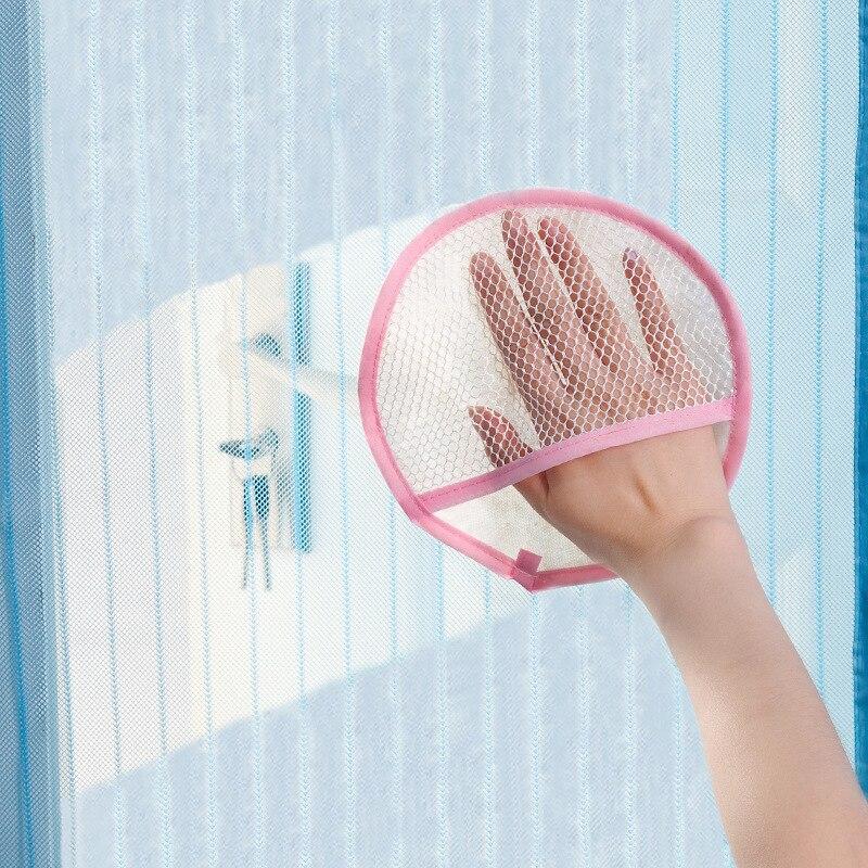 Guantes de malla de pantalla de la ventana cortina de paño de eliminación de pol