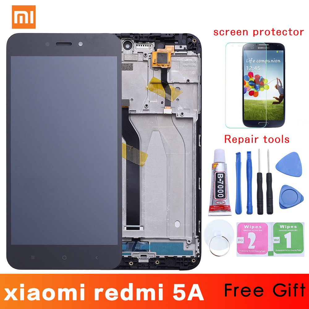 5.0'' Original Display For Xiaomi Redmi 5A LCD Touch Screen Digitizer With Frame Replacement For Xiaomi Redmi 5A LCD 5 A Display