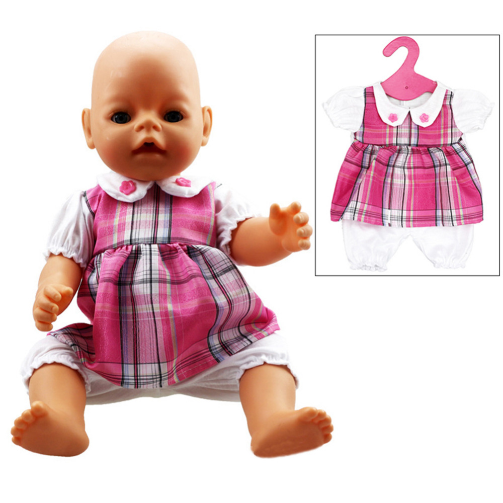 Baby Girl Doll Clothing Toys Handmade Pink Siamese Clothing Doll Clothes Wear Baby Romper For 18 American Girl Doll Accessories