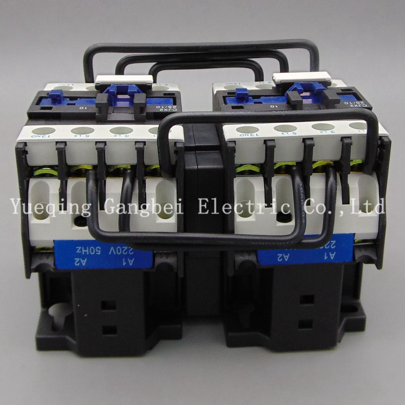 CJX2-3201N 32A reversing contactor mechanical interlocking contactor Mechanical chain contactor voltage 380V 220V 110V 36V 24V cjx2 115n mechanical interlocking contactor 115a