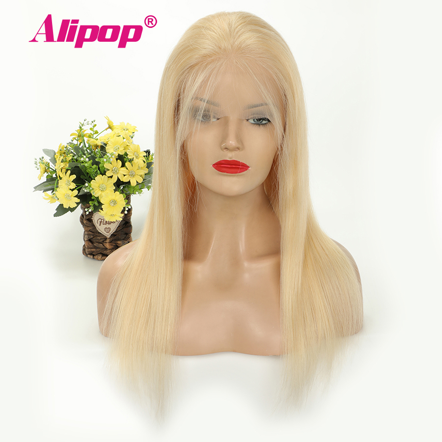 Alipop 613 Color Glueless 13x4 Lace Front Human Hair Wigs With Baby Hair PrePlucked Brazilian Straight
