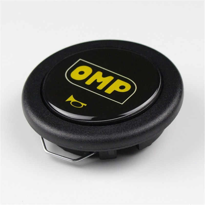 Car Styling Black OMP Racing Steering Wheel Horn Button Steering Wheel Horn Switch Cover For Universal Car