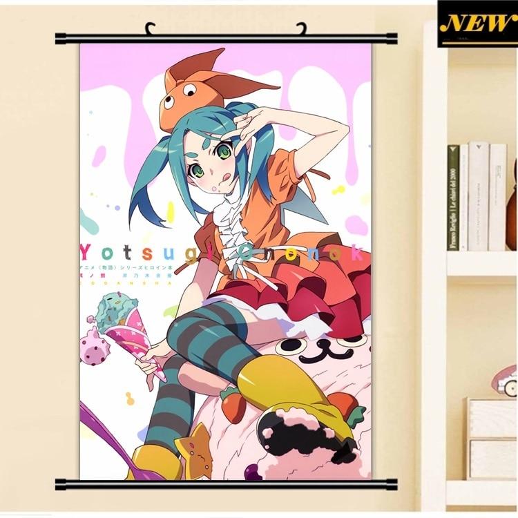 monogatari series HD Canvas Print Wall Poster Scroll Home Decor Cosplay