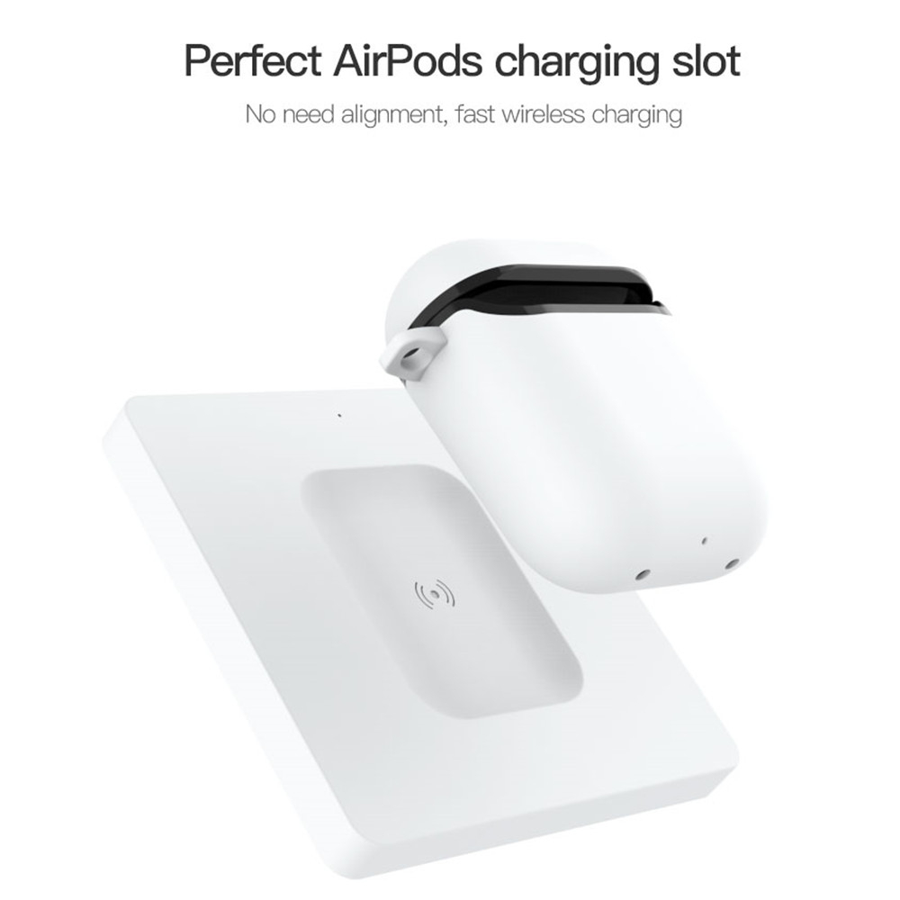 ZKFYS Qi Wireless Fast Charging Pad Dock For Apple AirPods Case iPhone 8 Plus X XS MAX XR Charger Stand