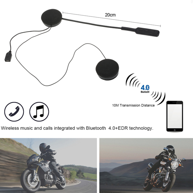US $23 55 |Motorcycle Motorbike Helmet Bluetooth Headsets Wireless  Headphones Dual Stereo Speakers Hands free Mic Earphone for Smart Phones-in